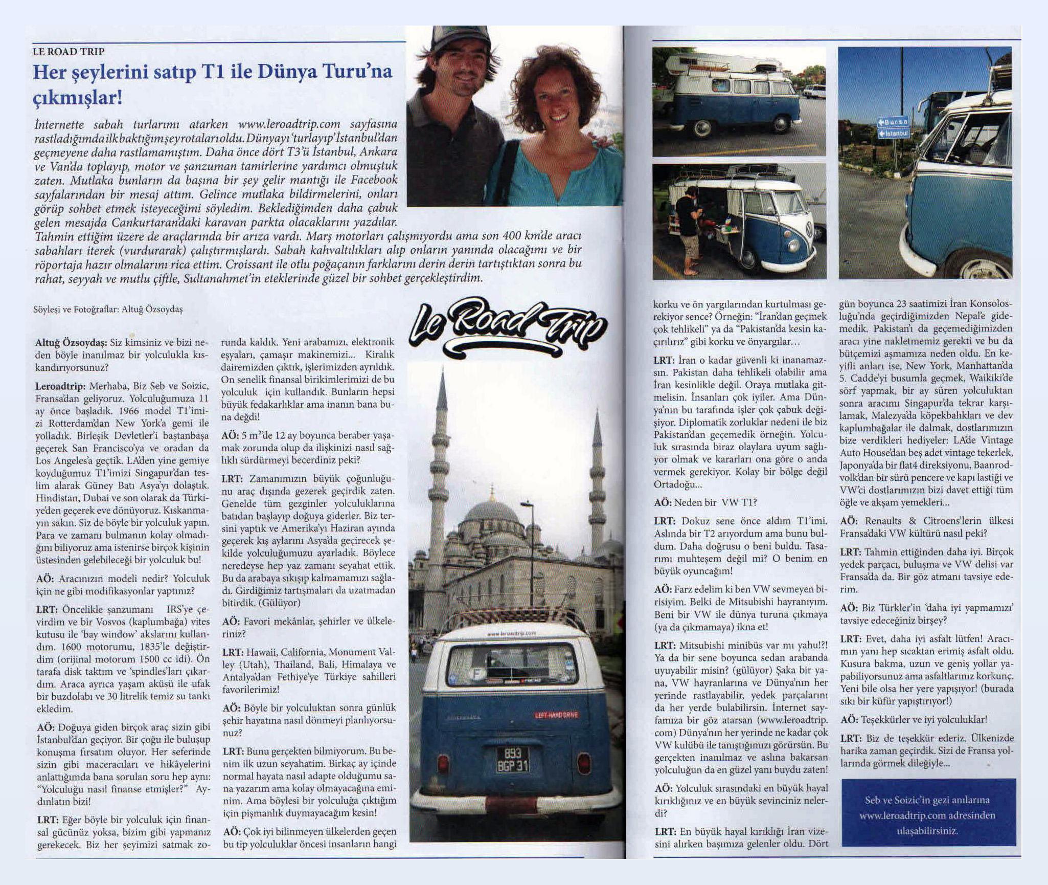 İstanbul İnterview in havasoğutmalı magazine, Turkey 10273350_10152119774827709_4474071206655089052_o2